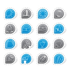 Simple Summer and Holiday Icons vector image vector image