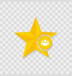 star icon people team icon vector image