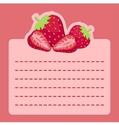 Strawberry Memo Notes vector image vector image
