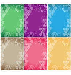 technology background color set vector image