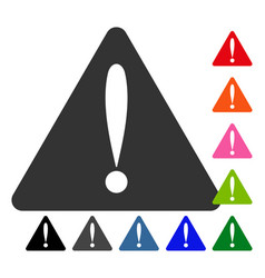 warning error framed icon vector image