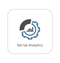 Set up analytics icon flat design vector