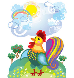little rooster vector image