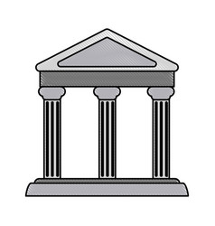 Color blurred stripe parthenon architecture icon vector