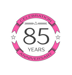 Eighty five years anniversary celebration logo vector