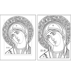 Virgin Oplechnaya outline3 4 vector image