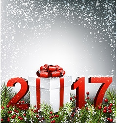 2017 new year background with garland vector