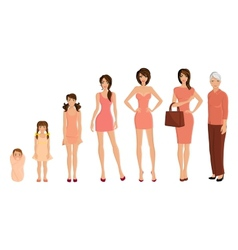 Generation woman set vector image