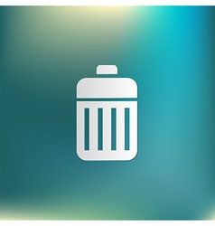 Basket garbage vector