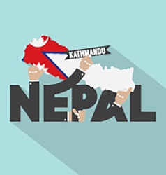 Nepal typography design vector