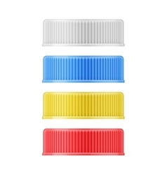 Colored plastic lids for bottle vector