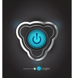futuristic power button vector image