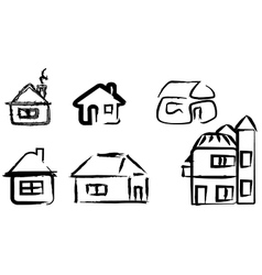 Simple funny house vector