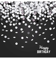 Happy birthday design confetti icon celebration vector