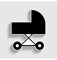 Pram sign sticker style icon vector