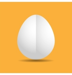 Clean flat template white easter egg vector