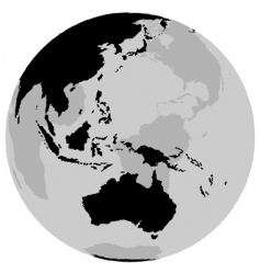 Earth australia vector