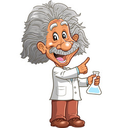 Albert einstein professor genius scientist vector