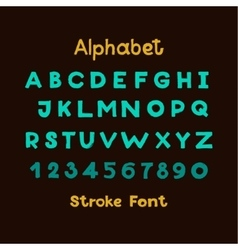 Alphabet english sloppy fat stroke font letters vector