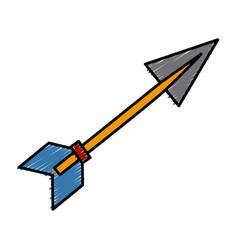 arrow archery bow vector image vector image