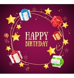 Birthday gift box garland background vector