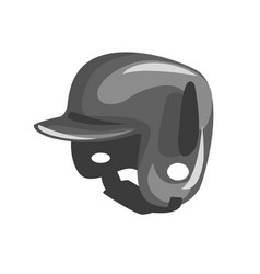 Black plastic helmed for head protection part of vector