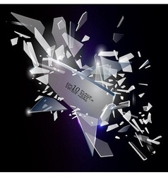 Broken glass design vector image vector image