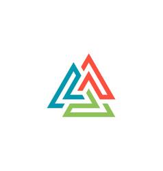 circle triangle color logo vector image vector image