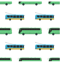 city transport public industry bus seamless vector image vector image