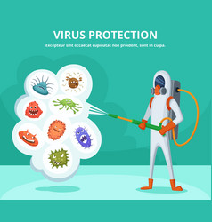 concept of viruses protection vector image vector image