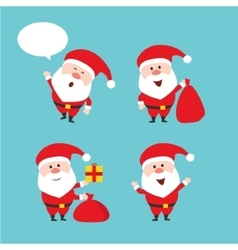 Cute funny Santa Claus set Merry vector image vector image