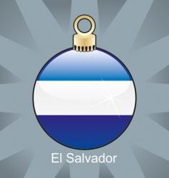 el Salvador flag in bulb vector image vector image