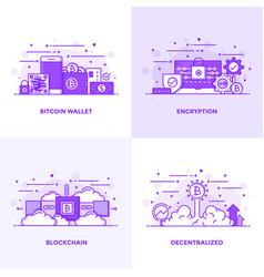 Flat line purple designed concepts 18 vector