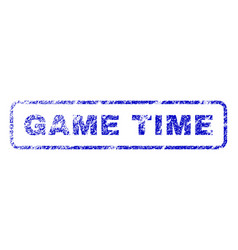 game time rubber stamp vector image vector image