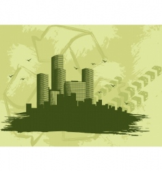 grunge city banner vector image