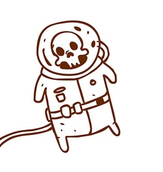 Hand Drawn Dead Astronaut vector image