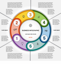 Infographic for success business project 6 vector