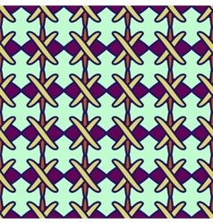 Line and cross seamless pattern 2703 vector image