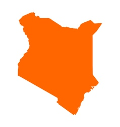 Map of kenya vector