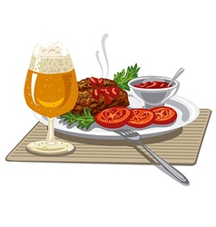 Meat cutlets vector