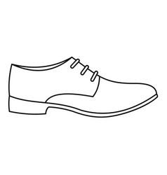 men shoe icon thin line vector image