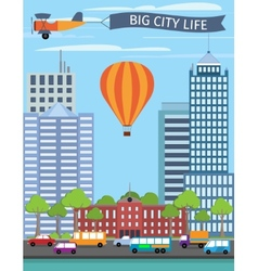 Modern buildings poster vector image