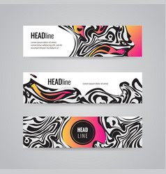 modern poster abstract wavy design template can be vector image