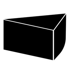 Piece of cake the black color icon vector