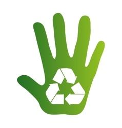 Recycle arrows ecology icon vector