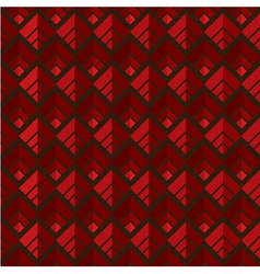 Red seamless square pattern background vector image vector image