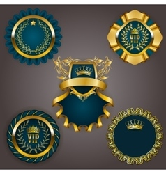 Set of gold vip vector
