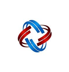 Technology orbit circle abstract logo vector