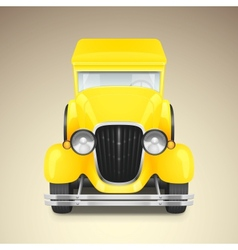 Yellow retro car vector