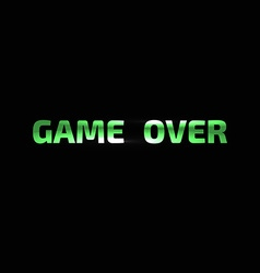 Game over banner game over lettering vector